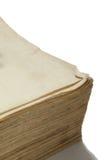 Leerseite des alten Buches mit Gelben Seiten Stockfotos