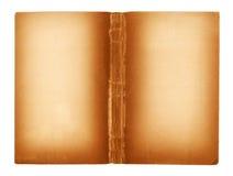 Leerseiten eines alten Buches Stockbilder