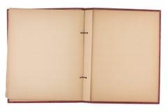 Leerseiten eines alten Schrott-Buches Lizenzfreie Stockfotografie
