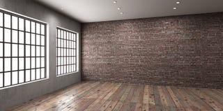 Leerstelle des Studios oder des Büros in der Dachbodenart lizenzfreie abbildung
