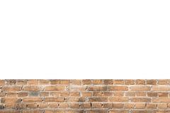 Leerstelleameisenmuster orange olld Wandziegelstein-Hintergrundst. stockbild