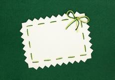 Leerzeichen auf Grün Lizenzfreie Stockfotos