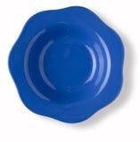 Leerzeichen und leerer blauer Teller Lizenzfreies Stockfoto