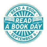 Lees een Boekdag, 6 September stock illustratie