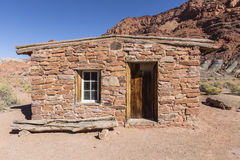 Lees Ferry Historic Stucture at Glen Canyon National Recreation. Lees Ferry historic stone structure at Glen Canyon National Recreation Area royalty free stock photo
