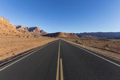 Lees Ferry Road in Northern Arizona. Lees Ferry Road inside the Glen Canyon National Recreationa Area in Northern Arizona Stock Photo