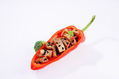Lees fish-Lantern pepper bowl. Wine lees is a tract of Poyang Lake, Jiangxi Province in the vicinity of the Han nationality traditional cuisines, about half a Royalty Free Stock Image