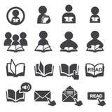 Lees pictogramreeks Royalty-vrije Stock Afbeelding