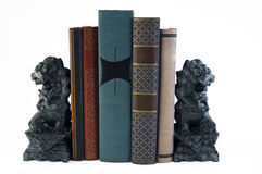 Leeuw Bookends Stock Foto