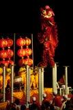 Leeuw die in Chinees Nieuwjaar dansen. Royalty-vrije Stock Fotografie