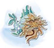 Leeuw, het Decoratieve schilderen Royalty-vrije Stock Foto