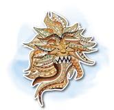 Leeuw, het Decoratieve schilderen Royalty-vrije Stock Fotografie