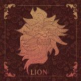 Leeuw, het Decoratieve schilderen Royalty-vrije Stock Foto's