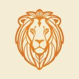 Leeuw hoofd vectorillustratie Stock Foto