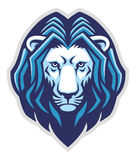 Leeuw hoofdmascotte Stock Afbeeldingen