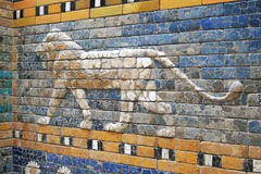 Leeuw - Ishtar-poort royalty-vrije stock fotografie