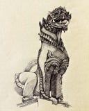 Leeuw Lanna royalty-vrije illustratie