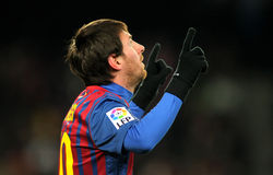 Leeuw Messi van FC Barcelona Stock Foto's