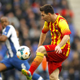 Leeuw Messi van FC Barcelona Stock Fotografie