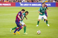 Leeuw Messi van FC Barcelona Stock Foto