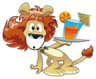 Leeuw met Drank royalty-vrije illustratie