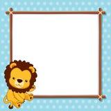 Leeuw met witte spatie royalty-vrije illustratie