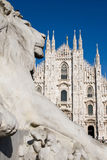 Leeuw op Milaan Royalty-vrije Stock Afbeeldingen