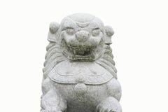 Leeuw op wit wordt geïsoleerd dat royalty-vrije stock afbeeldingen