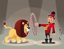 Leeuw Tammer met leeuw. Stock Foto's