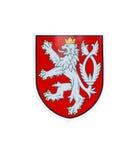 Leeuw - Tsjechisch nationaal teken stock afbeelding