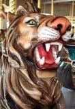 Leeuw Twee van de carrousel Stock Foto's