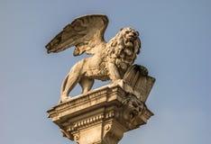 Leeuw van het Teken van Heilige van de Republiek van Venetië Stock Afbeelding