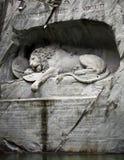 Leeuw van Luzerne, Zwitserland Stock Afbeelding