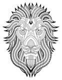 Leeuw zentangle Stock Afbeeldingen