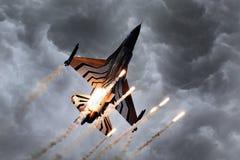 LEEUWARDEN, НИДЕРЛАНДСКИЙ 10-ОЕ ИЮНЯ 2016: Бельгия - военновоздушная сила g Стоковые Фотографии RF