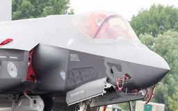 LEEUWARDEN, НИДЕРЛАНДЫ - 11-ОЕ ИЮНЯ 2016: Конец-вверх нового F-3 Стоковые Изображения RF