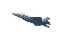 LEEUWARDEN, НИДЕРЛАНДЫ - 26-ОЕ МАЯ: Боец F-35 во время его fi Стоковое Фото