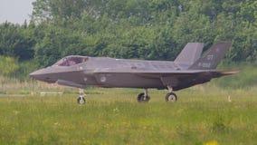 LEEUWARDEN, НИДЕРЛАНДЫ - 26-ОЕ МАЯ: Боец F-35 во время его fi Стоковое Изображение RF
