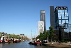 Leeuwarden-achmea Turm Lizenzfreies Stockfoto