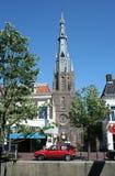Leeuwarden Bonifacitus church from the Emma quay. Netherlands, Friesland, Leeuwarden,juni 2016: st Bonifatius church royalty free stock photos