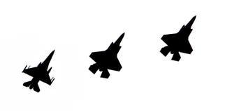 LEEUWARDEN, DIE NIEDERLANDE - 10. JUNI 2016: F-16 und 2 F-35 Lig Lizenzfreie Stockfotografie
