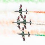 LEEUWARDEN, DIE NIEDERLANDE 11. JUNI 2016: Italienischer aerobatic Tee Stockbilder