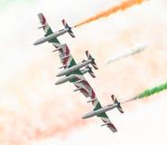 LEEUWARDEN, DIE NIEDERLANDE 11. JUNI 2016: Italienischer aerobatic Tee Stockfotos