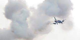 LEEUWARDEN, DIE NIEDERLANDE 10. JUNI 2016: Italienischer aerobatic Tee Lizenzfreie Stockfotos
