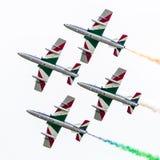 LEEUWARDEN, DIE NIEDERLANDE 11. JUNI 2016: Italienischer aerobatic Tee Stockbild