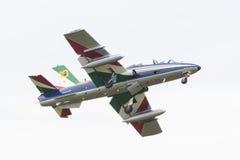 LEEUWARDEN, DIE NIEDERLANDE 10. JUNI 2016: Italienischer aerobatic Tee Stockfotos