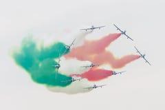 LEEUWARDEN, DIE NIEDERLANDE 11. JUNI 2016: Italienischer aerobatic Tee Stockfoto