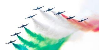 LEEUWARDEN, DIE NIEDERLANDE 10. JUNI 2016: Italienischer aerobatic Tee Stockfoto