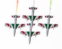 LEEUWARDEN, DIE NIEDERLANDE 11. JUNI 2016: Italienischer aerobatic Tee Lizenzfreie Stockfotografie