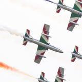 LEEUWARDEN, DIE NIEDERLANDE 11. JUNI 2016: Italienischer aerobatic Tee Lizenzfreies Stockfoto